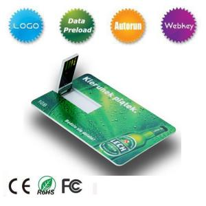 China Movimentação do flash de USB do cartão de crédito da amostra grátis on sale
