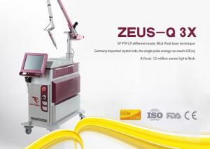 China 10Hz Frequency Laser Tattoo Removal Machine Q Switched Nd Yag Picosecond Pigment Treatment on sale