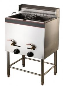 China Vertical cylinder double screen Gas Fryer/Deep fryer/Griddle on sale