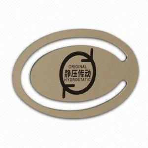 China Custom Oval shape metal book marks , Stainless iron Personalised Bookmarks (OEM) on sale