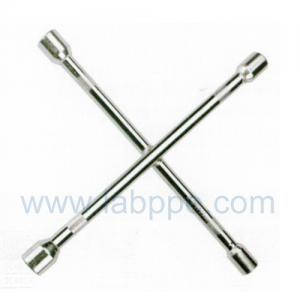 Quality S1814-Knurled galvanized Cross Rim Wrench/Cross tire wrench,4 way rim car wheel for sale