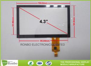 China 4.3 Inch Capacitive Touchscreen P + G Structure Multi Touch With I2C Interface on sale