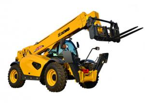 China 10 Ton Telescopic Telehandler Forklift 6290 X 2450 X 2725mm With Good Stability on sale