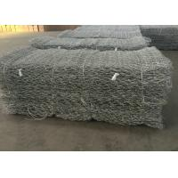 Hot Dipped Galvanized Gabion Wall Mesh / Stone Cage Wire Mesh Customized