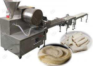 China Square Commercial Injera Making Machine , Round  Lumpia Wrapper Maker Machine on sale