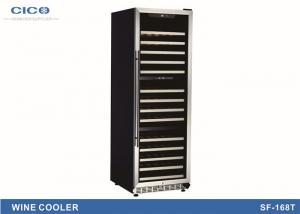 China Reliable Silm Compressor Wine Cooler Triple Temp Zone Low E Glass on sale