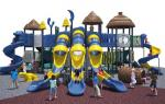 Cool Series Outdoor Playground Equipment Anti - Crack With Big Play Towers And Tube Slides