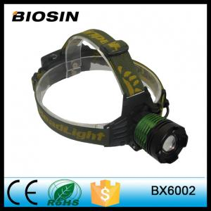 China Double light source zoomable adjustable led rechargeable headlamp with hidden attack rescu on sale