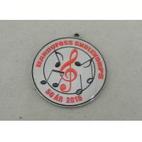 Die Stamped Synthetic Enamel Medal Nickel Brass Award Medals For Music Club