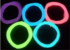 China Electroluminescent Light Glow Purple EL Wire With Welt / LED Lighting Wire on sale