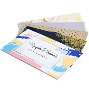 China Personality Printed Paper Business Cards Embossed Gold Foil Luxury Business Cards Printing on sale