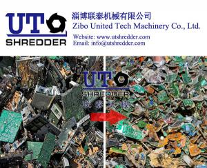China Waste PCB board e waste recycling machine double shaft shredder on sale