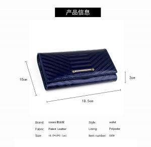 China 2017 new season soft smooth patent leather women leather wallet on sale