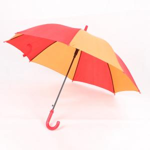 China Red And Orange Small Kids Rain Umbrella 19 Inch Zinc Plating Safe Frame on sale