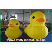 Promotion Lovely Big Yellow Inflatable Cartoon Duck With Customized Logo Print