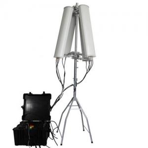 China 160W 4-8bands  1000m High Power Drone  Jammer on sale