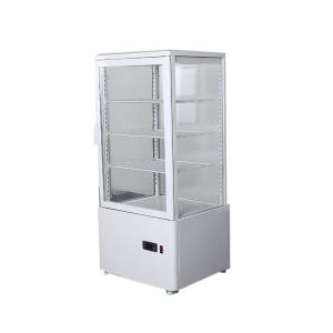 China Convenience Store Vertical 4 Flat Glass Countertop Display Chiller on sale