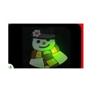 China OEM logo plastic Personalised flashing Christmas Decorations flashing Metal badge gift on sale