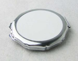 China Woman Round Compact Mirror For Purse , Cosmetic Custom Compact Mirror on sale