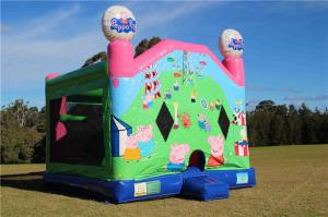 China PVC Outdoor Commercial Peppa Pig Inflatable Combo Jumping Castle For Fun Games on sale