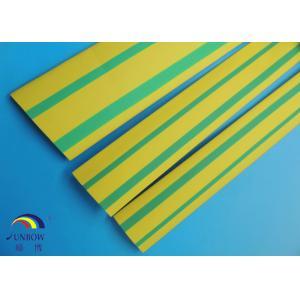 China Tuyauterie flexible jaune/de vert Stripd de la chaleur de rétrécissement ignifuge on sale