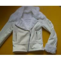 100 Polyester Bomber Jacket , Suede And Fur Joint Ladies Hooded Jacket
