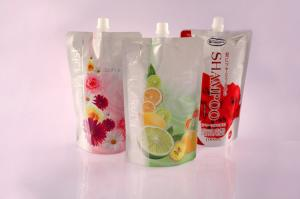 China Customized Stand Up Flexible Cosmetic Packaging Bag With Spout on sale