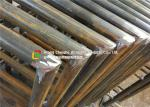 China 48 X 3mm Carbon Steel Metal Safety Fencing , Building Steel Security Fencing wholesale