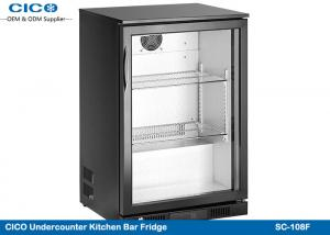 China Built In Mini Under Counter Chiller / Black Outdoor Beverage Cooler on sale