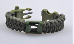 China Survival paracord bracelet with can opener and fire starter on sale