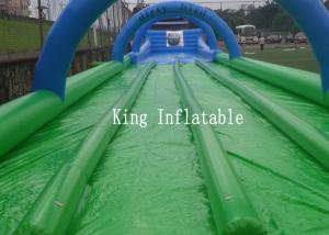 China Custom 1200m Inflatable Slip N Slide PVC Tarpaulin Four Lanes Inflatable Slip Slide on sale