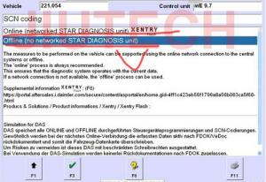 Offline SCN Coding Opening Service Mercedes Star Diagnosis