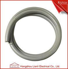 China Gray 1/2 Liquid Tight Flexible Electrical Conduit PVC Coated With Cotton Wire on sale