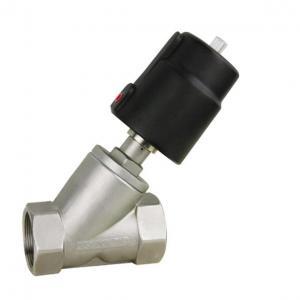 China Thread type angle seat valve pneumatic valve on sale
