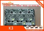 Cast iron diesel engine K3 K5 K6 cylinder head for Kubota engine truck & excavator