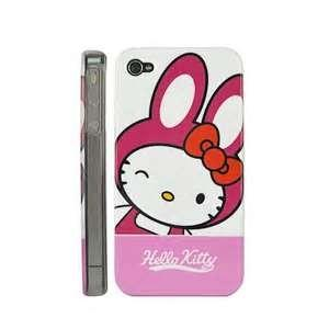 China Hello kitty case iphone 4 / 4s phone case real leather with star diamond cell phone case on sale