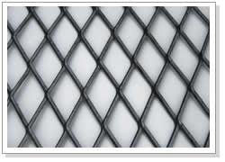 China Black Steel Expanded Metal Sheets Diamond Mesh For Highway / Residence on sale