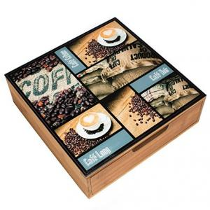 China Hot sell bamboo wooden coffee cup box on sale
