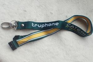 China PP Material Promotional Printing Satin Lanyard With Custom Logo on sale