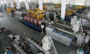 China Double Wall Corrugated Pipe Production Line For HDPE / PP / PVC Pipe on sale