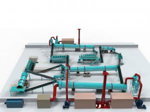 China Urea, Ammonium Sulphate, MOP Base Rotary Drum Granulator NPK Production Line on sale