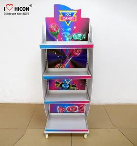 China Freestanding Candy Merchandising Metal Retail Display Stands With Powder Coating on sale