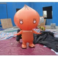 Attractive Orange Onion Advertising funny inflatable costumes for kids