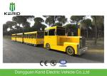 Gasoline Power 62 Seats Mini Trackless Train , Ride On Tourist Train For Attractions