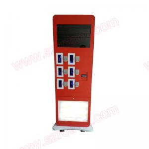 China Customized floor stand Self service touch screen Cell phone charging station by passcode lock on sale