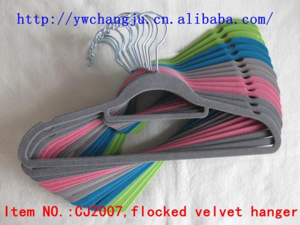 flocked hanger yiwu stocklot wholesale supplier over stock