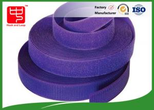 China Purple strong hook and loop adhesive tape hook and loop tape roll for garments on sale