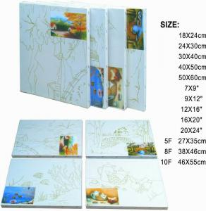 China Premier Art Painting Canvas For Printing 100% Natural Cotton Paulownia Or Fir Wood on sale