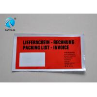 Self Adhesive packing list envelope for slips , invoices , safety data sheet