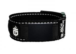 China Adjustable Sports Velcro Medical Bracelet Easy Wash With Blank Black Plate on sale